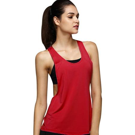 bf8b18cfb5cd Women Summer Sexy Loose Gym Sport Vest Training Run RDL - Walmart.com