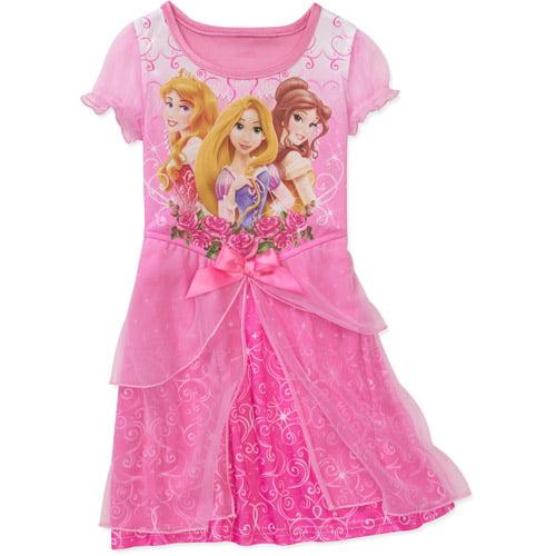 Disney Baby Girls' Princess Dress Up Nite Gown