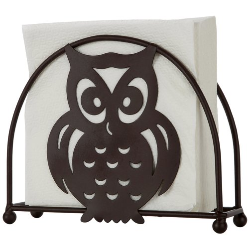 Sweet Home Collection Bronze Owl Standing Napkin Holder (...