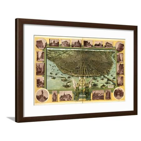 Saint Louis, Missouri 1896 Framed Print Wall Art](Party City Saint Louis Missouri)