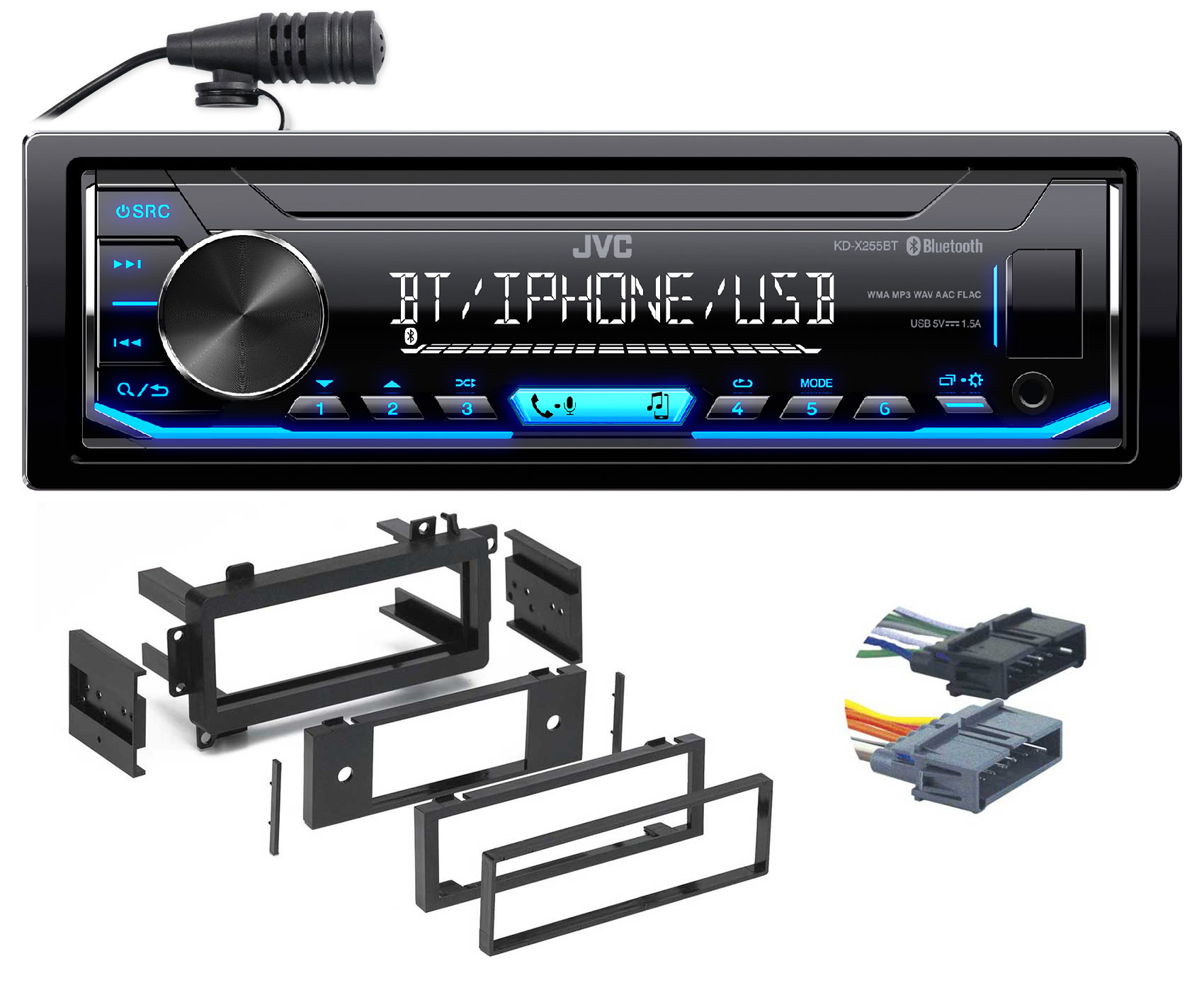 JVC Digital Media Bluetooth Receiver, USB Android iPhone For 97-01 Jeep Cherokee by JVC