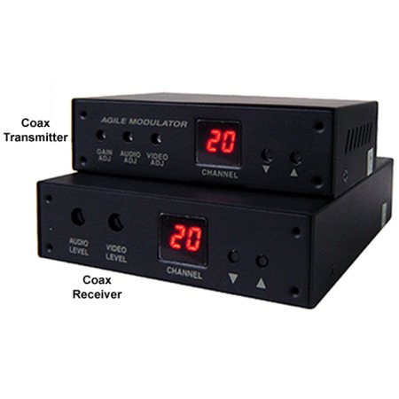 Composite RCA Video Audio Over Coax Cable Extender Kit Composite Rca Cable Kit