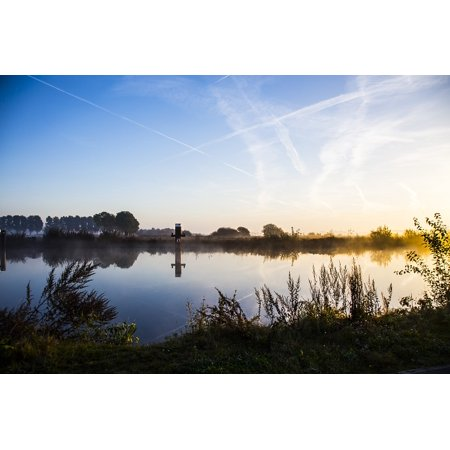 LAMINATED POSTER Channel Water Blue Sky Landscape Netherlands River Poster Print 24 x 36