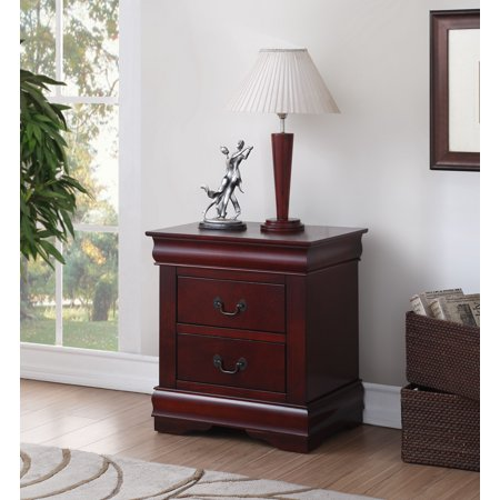 Acme Louis Philippe 2-Drawer Nightstand, Multiple Finishes ()