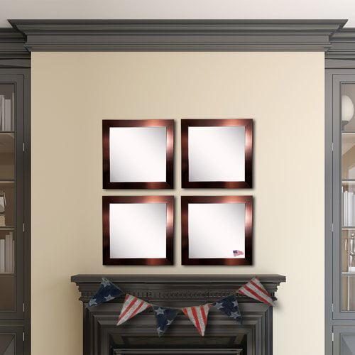 Ebern Designs Waite Barnwood Wall Mirror (Set of 4)
