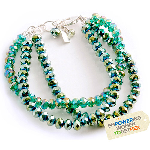 Green with Envy Bracelet by Women's Bean Project