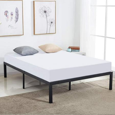 14 Inch Queen Size Bed Frame Heavy Duty Steel Slat Metal