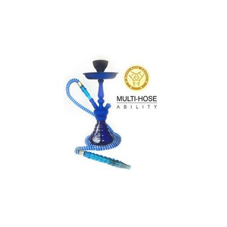 "VAPOR HOOKAHS FEATHER 15"" MODERN COMPLETE HOOKAH SET: Single Hose shisha pipe with 2 Hose Multi Hose ability and auto seal system. Feather narguile pipes use new air flow technology (Red Hookah)"