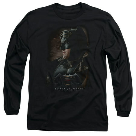 BATMAN V SUPERMAN/DESERT GEAR-L/S ADULT 18/1-BLACK-LG