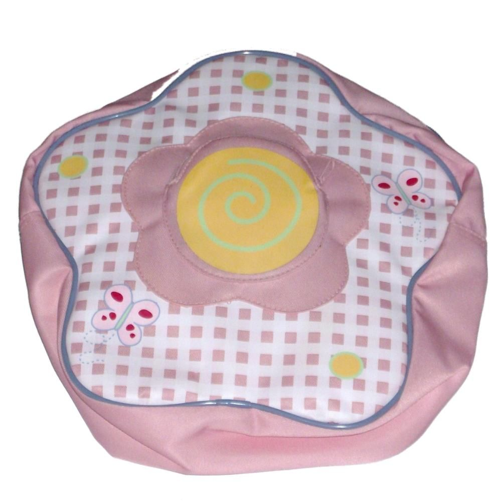 Garden Place Small Pink Plaid Flower Shaped Backpack Daypack Back Pack