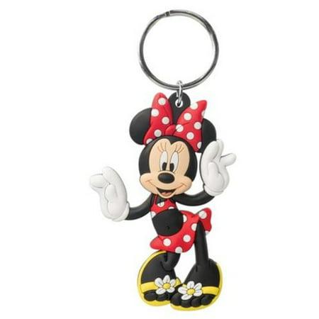 Minnie Mouse Flip Flops - Disney - Rubber Keychain Flip Flops Genuine Leather Keychain