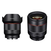 Rokinon 2 Lens Kit Includes 14mm F2.8 AF Wide Angle, Full Frame Auto Focus Lens for Sony E Mount - Rokinon Auto Focus 50mm f/1.4-16 FE Lens for Sony E