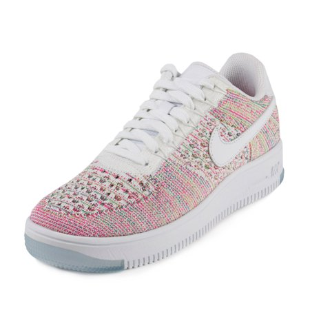 save off 234ae 0636a Nike - Nike Womens W Air Force 1 AF1 Flyknit Low WhiteEmerald-Multi Color  820256-102 - Walmart.com