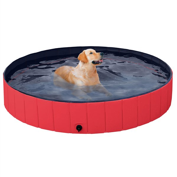 Easyfashion Foldable Pet Swimming Pool Wash Tub For Cats And Dogs Red Xx Large 63 Walmart Com Walmart Com