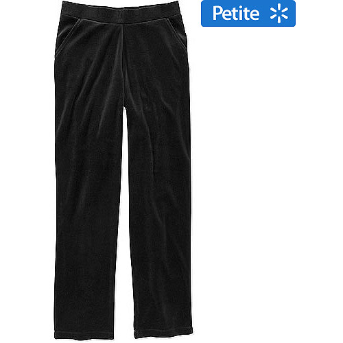 White Stag Mix n Match Women's Ribbed Velour Pants, Petite
