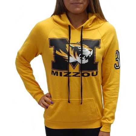 Tiger Athletic Sweatshirt - University of Missouri Mizzou Tigers Officially Licensed Logo Womens Junior Fit Pullover Hooded Shirt French Terry Hoodie (X-Small)