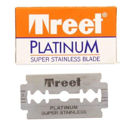 Treet Platinum Super Stainless Double Edge Razor Blades, 5-pak Treet Double Edge