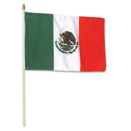1 x 1.5' Mexico Flags Wooden Dowel Parade Flags