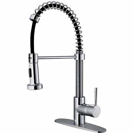 Vigo Pull Out Spray Kitchen Faucet With Deck Plate