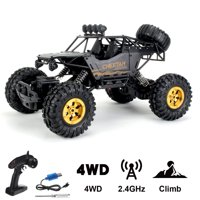 4WD 2.4G Remote Control RC Car, 1:12 Scale Alloy Climbing Car Truck Monster, Off Road Vehicle for Kids Gift