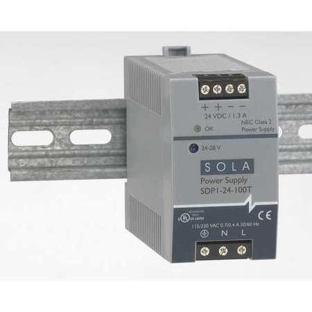 DC Power Supply,48-56VDC,1A,47-63Hz SOLA/HEVI-DUTY SDP1-48-100T