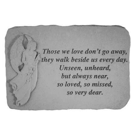 Those We Love Don't Go Away Memorial Stone - Angel Design