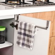 Dzt1968 Over Door Towel Rack Bar Hanging Holder Bathroom Kitchen Cabinet Shelf