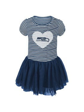 Product Image Seattle Seahawks Girls Toddler Celebration Tutu Sequins Dress  - College Navy White 36ddc51a2