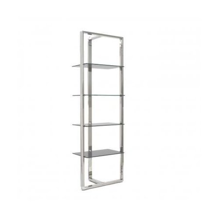 Awesome Euro Style 38514Gry Sienna Shelving Unit With Gray Tempered Home Interior And Landscaping Ferensignezvosmurscom
