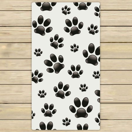 - PHFZK Animal Footprints Towel, Dog Paws Hand Towel Bath Bathroom Shower Towels Beach Towel 30x56 inches