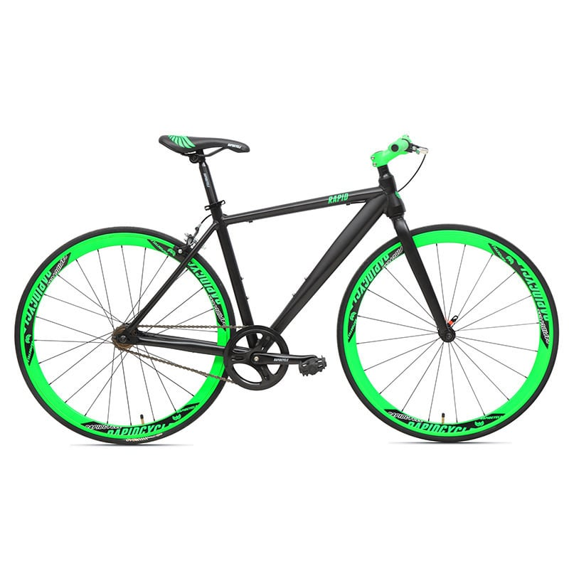 RapidCycle  Evolve A1 Flatbar 700C Unisex Fixed Gear Bike...