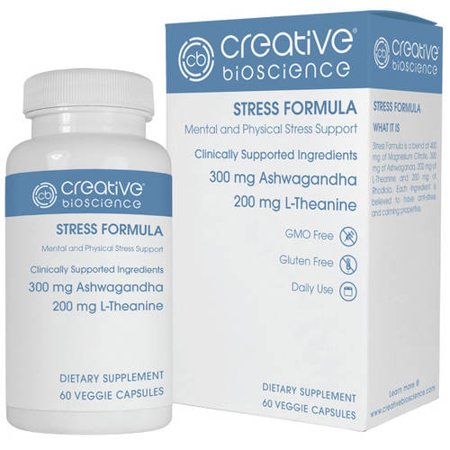 Creative Bioscience Stress Formula Dietary Supplement  60 Count
