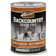 MERRICK PET FOOD BACKCOUNTRY CHUNKY VENISON/BEEF