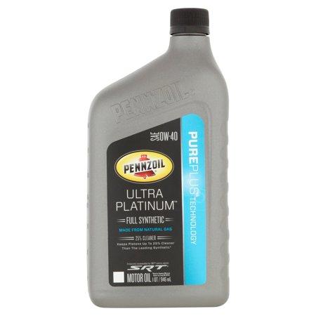 pennzoil ultra platinum 0w 40 motor oil 1 qt