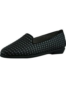 d3e642c53c50 Product Image Aerosoles Women s Betunia Faux Leather Black   Metallic  Silver Ankle-High Leather Flat Shoe -