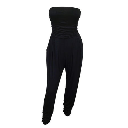 eVogues Plus Size Jumpsuit Black (Plus Size Jumpsuits For Cheap)