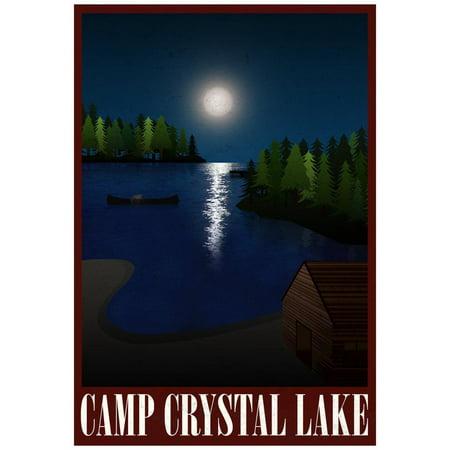 Camp Crystal Lake Retro Travel Poster Print Wall Art](Camp Crystal Lake)