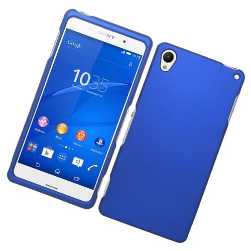 Insten Hard Rubber Case For Sony Xperia Z3 - Blue