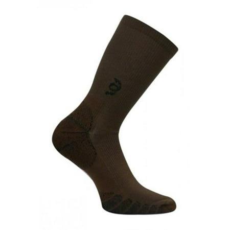 Travelsox Tsc 100 Compression Crew Socks  44  Brown   Medium