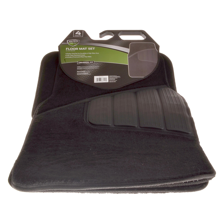 Auto Drive Heavy Duty Stain Resistant 4-Piece Carpet Car Floor Mat