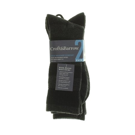 Croft & Barrow Wool Blend Boot Socks Cold Weather Comfort 2 (Best Clothes For Humid Weather)
