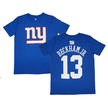 Odell Beckham Jr. #13 New York Giants NFL Youth Name & Number Jersey T-Shirt - Royal Blue
