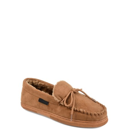 Tuck & Von Mens Faux Fur Lined Moccasin Slipper Green Bay Packers Mens Slipper