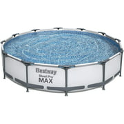 """SEABED 56061US Steel Pro MAX Above Ground Swimming Pool, 12' x 30"""", White"""