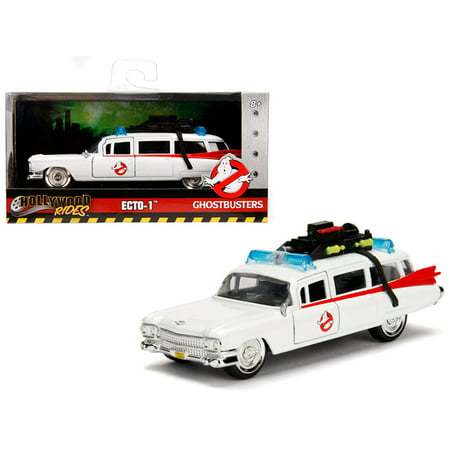 "1959 Cadillac Ambulance Ecto-1 from ""Ghostbusters"" Movie ""Hollywood Rides"" Series 1/32 Diecast Model Car by Jada"