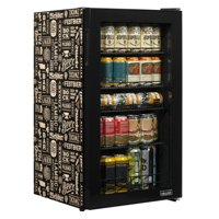 NewAir Beers of the World Custom Designed Freestanding 126 Can Beer Fridge with SplitShelf, Chills Down to 32 Degrees