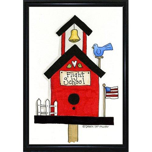 August Grove 'Flight School Birdhouse' Print