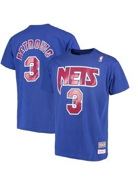 Product Image Men s Mitchell   Ness Drazen Petrovic Royal New Jersey Nets Hardwood  Classics Retro Name   Number 795bd39c6