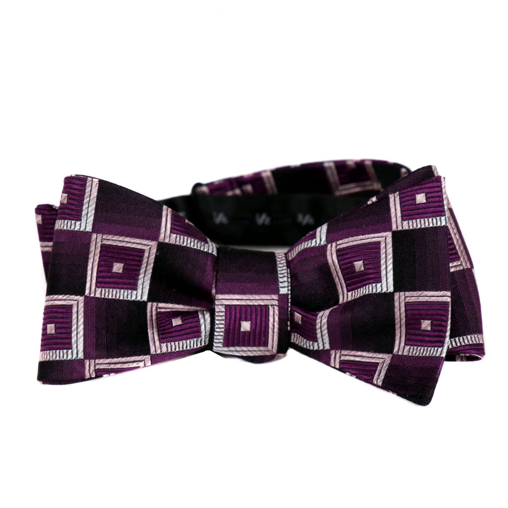 BuyYourTies - FBTZ-478 - Mens Aficionado Self Tie Bow Tie - Purple