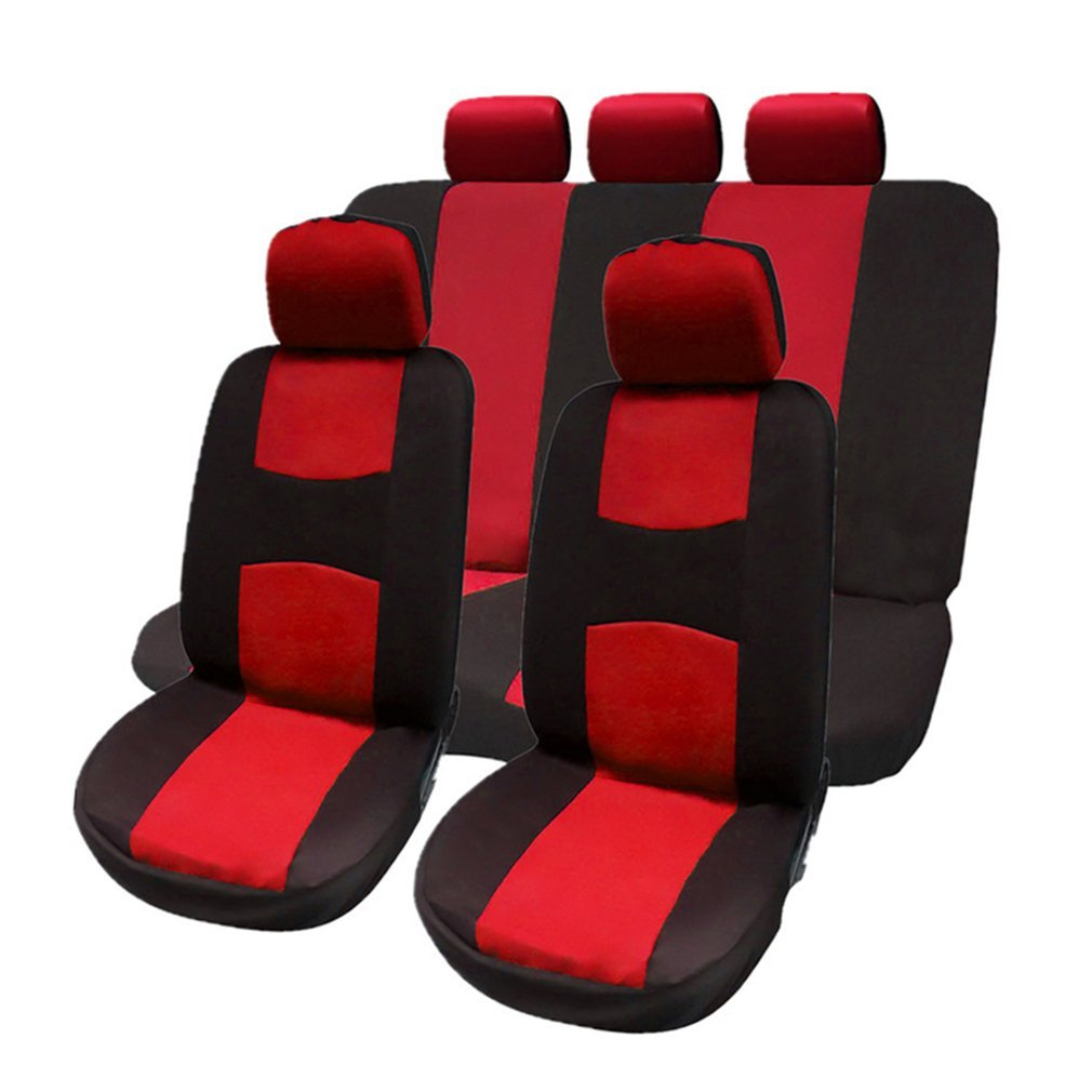 Front Rear Universal Car Seat Covers Auto Car Seat Covers Vehicles Accessories,red